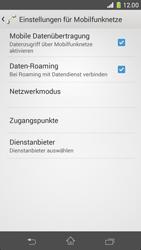 Sony Xperia Z1 Compact - Ausland - Im Ausland surfen – Datenroaming - 10 / 12