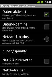 Alcatel OT-983 - Internet und Datenroaming - Manuelle Konfiguration - Schritt 7
