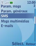 Nokia 3110 classic - SMS - configuration manuelle - Étape 5