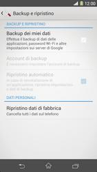 Sony Xperia Z1 - Dispositivo - Ripristino delle impostazioni originali - Fase 6