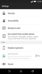 HTC One M8 - Mobile phone - Resetting to factory settings - Step 4