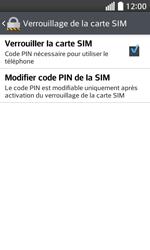 LG F70 - Sécuriser votre mobile - Personnaliser le code PIN de votre carte SIM - Étape 7