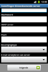 Samsung S5830i Galaxy Ace i - E-mail - e-mail instellen: IMAP (aanbevolen) - Stap 8