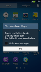 Samsung Galaxy S 4 Mini LTE - Startanleitung - Installieren von Widgets und Apps auf der Startseite - Schritt 5