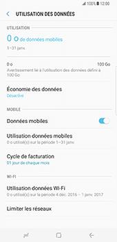 Samsung Galaxy S8 Plus - Internet et roaming de données - Comment vérifier que la connexion des données est activée - Étape 7