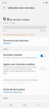 Samsung Galaxy S20 FE - Internet et connexion - Désactiver la connexion Internet - Étape 6