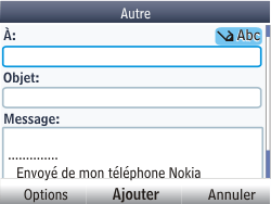 Nokia Asha 201 - E-mail - envoyer un e-mail - Étape 6