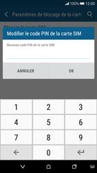 HTC Desire 626 - Sécuriser votre mobile - Personnaliser le code PIN de votre carte SIM - Étape 8