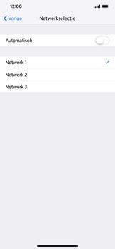 Apple iPhone XS Max - Netwerk selecteren - Handmatig een netwerk selecteren - Stap 9