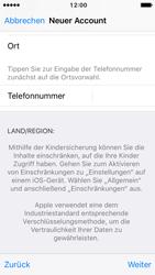 Apple iPhone SE - iOS 10 - Apps - Konto anlegen und einrichten - Schritt 23
