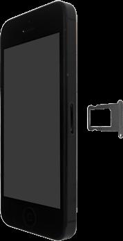 Apple iPhone 5 mit iOS 9 - SIM-Karte - Einlegen - Schritt 4