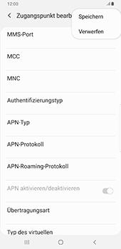 Samsung Galaxy S9 Plus - Android Pie - MMS - Manuelle Konfiguration - Schritt 15