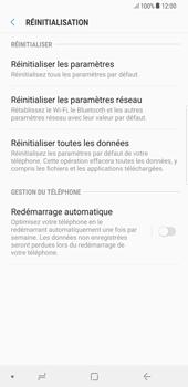 Samsung Galaxy S8 Plus - Android Oreo - Appareil - Réinitialisation de la configuration d