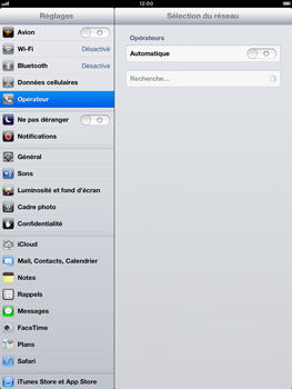 Apple iPad Retina - Réseau - Sélection manuelle du réseau - Étape 7