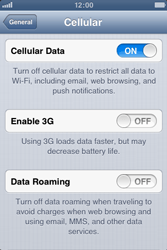 Apple iPhone 3GS - Internet and data roaming - disabling data roaming - Step 6
