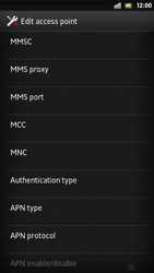 Sony Xperia S - MMS - Manual configuration - Step 11