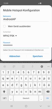 Samsung Galaxy S10 Plus - WiFi - So aktivieren Sie einen WLAN-Hotspot - Schritt 11