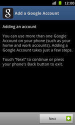 Samsung Galaxy S Advance - Applications - Setting up the application store - Step 5