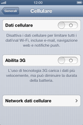 Apple iPhone 3GS - Internet e roaming dati - Configurazione manuale - Fase 6