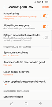 Samsung Galaxy S8 (G950) - E-mail - Instellingen KPNMail controleren - Stap 9