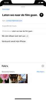 Apple iPhone XS Max - iOS 13 - E-mail - e-mail versturen - Stap 10