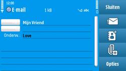 Nokia N97 - E-mail - e-mail versturen - Stap 8