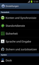 Samsung Galaxy S II - Gerät - Zurücksetzen auf die Werkseinstellungen - Schritt 4