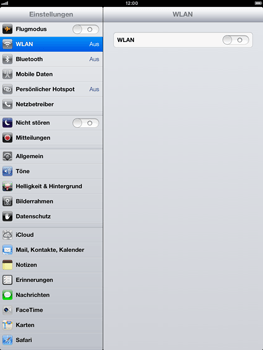 Apple iPad mini - Internet und Datenroaming - Deaktivieren von Datenroaming - Schritt 3