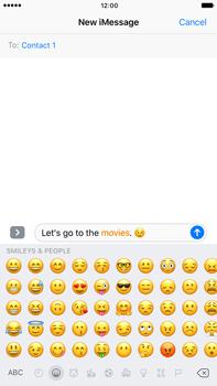 Apple Apple iPhone 6 Plus iOS 10 - iOS features - Send iMessage - Step 14