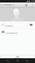 Sony Xpéria SP - Contact, Appels, SMS/MMS - Ajouter un contact - Étape 16