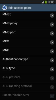 Samsung N9005 Galaxy Note III LTE - MMS - Manual configuration - Step 10