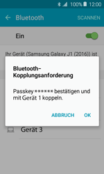 Samsung Galaxy J1 (2016) - Bluetooth - Geräte koppeln - 0 / 0