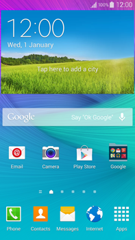 Samsung Galaxy Note 4 - Getting started - Installing widgets and applications on your start screen - Step 1
