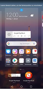 Huawei P20 Pro - Startanleitung - Installieren von Widgets und Apps auf der Startseite - Schritt 9