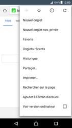 Sony Xperia X - Internet et connexion - Naviguer sur internet - Étape 9