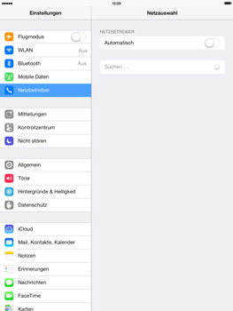 Apple iPad mini retina - Netzwerk - Manuelle Netzwerkwahl - Schritt 7