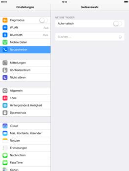 Apple iPad mini 2 - Netzwerk - Manuelle Netzwerkwahl - Schritt 5