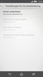 Sony Xperia Z2 - Anrufe - Rufumleitungen setzen und löschen - Schritt 8