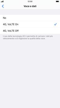 Apple iPhone 8 Plus - iOS 13 - Rete - Come attivare la connessione di rete 4G - Fase 7