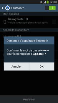 Samsung Galaxy Note 3 - Internet et connexion - Connexion avec un équipement multimédia via Bluetooth - Étape 8