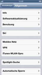 Apple iPhone 5 - Netzwerk - Netzwerkeinstellungen ändern - Schritt 4