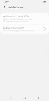 Samsung Galaxy S9 - Android Pie - Netzwerk - Manuelle Netzwerkwahl - Schritt 9