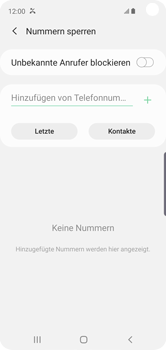 Samsung Galaxy S10e - Anrufe - Anrufe blockieren - Schritt 9