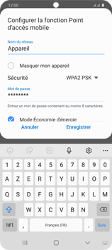 Samsung Galaxy S20 5G - WiFi - Comment activer un point d'accès WiFi - Étape 10