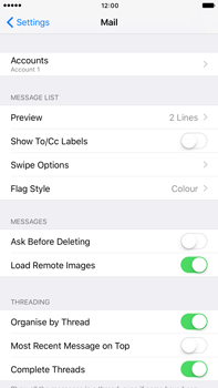 Apple Apple iPhone 6s Plus iOS 10 - E-mail - Manual configuration POP3 with SMTP verification - Step 28