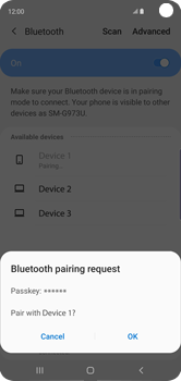 Samsung Galaxy S10 - Bluetooth - Connecting devices - Step 8
