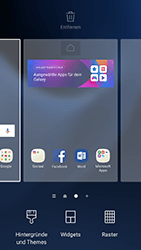 Samsung Galaxy S7 - Android N - Startanleitung - Installieren von Widgets und Apps auf der Startseite - Schritt 4