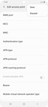 Samsung Galaxy S20 Plus 5G - MMS - Manual configuration - Step 15