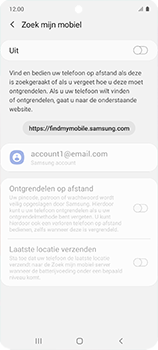 Samsung galaxy-a51-sm-a515f - Beveiliging en ouderlijk toezicht - Zoek mijn mobiel inschakelen - Stap 6