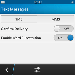 BlackBerry Q10 - SMS - Manual configuration - Step 6